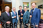 Enjoying the Kerry Fox Hound Hunt Club Galla Dinner at the Rose Hotel on Friday were Denis O'Leary, Shane O'Brien, Conor Fitzgerald, Gerard Moynihan, Pat O'Leary