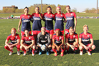 Piscataway, NJ - Sunday April 24, 2016: The starting eleven of the visiting Washington Spirit.  The Washington Spirit defeated Sky Blue FC 2-1 during a National Women's Soccer League (NWSL) match at Yurcak Field.