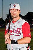 Lowell Spinners Outfielder Bryce Brentz (14) poses for a photo before a game vs. the Batavia Muckdogs at Dwyer Stadium in Batavia, New York July 16, 2010.   Batavia defeated Lowell 5-4 with a walk off RBI single.  Photo By Mike Janes/Four Seam Images