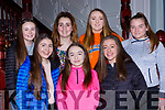 Katelyn O'Leary, Maura O'Keeffe, Aoife Nagle. Back rw: Caoimhe Guerin, Tara O'Leary, Michelle Fleming and Caitlyn O'Donoghue who were honoured at the Rathmore GAA awards night in the Killarney Avenue Hotel on Friday night