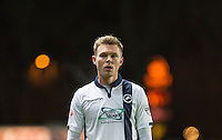 Aiden O'Brien of Millwall during the Johnstone's Paint Trophy Southern Final 2nd Leg match between Oxford United and Millwall at the Kassam Stadium, Oxford, England on 2 February 2016. Photo by Andy Rowland / PRiME Media Images.