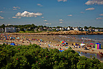 Short Sands beach on a Summer day, York, Maine, USA