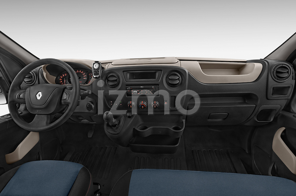 Stock photo of straight dashboard view of a 2015 Renault MASTER GRAND CONFORT 4 Door Cargo Van Dashboard