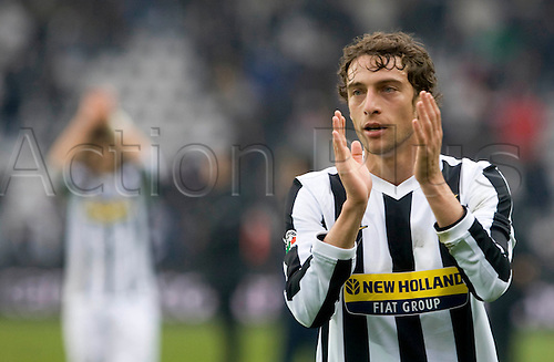 During a Serie A, soccer match between Juventus and Genoa at the Olympic stadium in Turin, Italy, Sunday, feb. 14, 2010 - in the picture: marchisio thanks to spectators.Alberto Ramella/sync/ACTIONPLUS editorial use only ..
