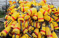 Yellow buoys<br /> Grand Manan Island<br /> New Brunswick<br /> Canada