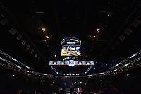 """BROOKLYN, NY - DECEMBER 22: View of Fox Sports logo above the ring before the start of the Fox Sports and Premier Boxing Champions  December 22 """"PBC on Fox"""" Fight Night at the Barclays Center on December 22, 2018 in Brooklyn, New York. (Photo by Anthony Behar/Fox Sports/PictureGroup)"""