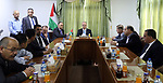 Palestinian Prime Minister, Rami Hamdallah, Lays the foundation stone of the Yabod emergency center, in the West Bank city of jenin, on July 17, 2017. Photo by Prime Minister Office