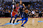 Dorian Finney Smith of Dallas Mavericks (R) in action against Markelle Fultz of 76ers (L) during the NBA China Games 2018 match between Dallas Mavericks and Philadelphia 76ers at Universiade Center on October 08 2018 in Shenzhen, China. Photo by Marcio Rodrigo Machado / Power Sport Images
