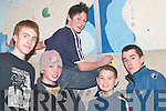 Adventurers: Fionnan Horgan, Colm Casey, Naoise OMuircheartaigh, Peter Wainwight and Juan ORaw who went rock climbing at St Brendans College, Killarney, last Saturday..