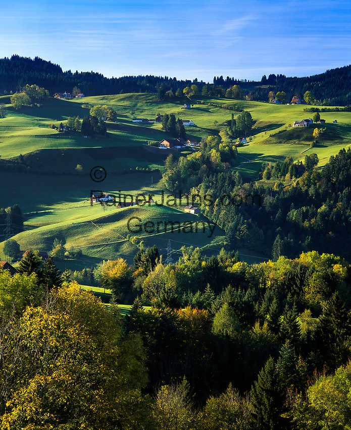 Schweiz, Kanton Appenzell Ausserrhoden, Appenzellerland, Landschaft beim Dorf Trogen AR   Switzerland, Canton Appenzell Ausserrhoden: landscape near village Trogen AR