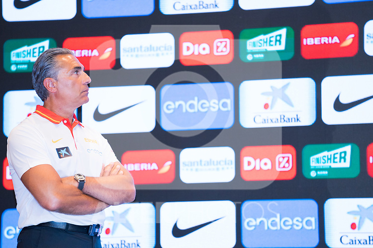 Coach Sergio Scariolo during the official presentation of Spanish National Team of Basketball.  July 24, 2019. (ALTERPHOTOS/Francis Gonzalez)
