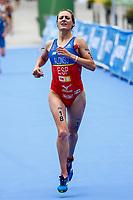 Camila Alonso Adradas of Spain during the 2017 Madrid ITU Triathlon World Cup in Madrid, May 28, 2017. Spain.. (ALTERPHOTOS/Rodrigo Jimenez) /NortePhoto.com