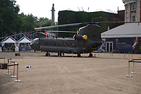 ZA680 Chinook helicopter<br /> RAF100 Aircraft Tour: aircraft of the UK RAF / Royal Air Force on display on Horse Guards Parade in front of the Admiralty House, London, England on July 06, 2018.<br /> CAP/SDL<br /> &copy;Stephen Loftus/Capital Pictures