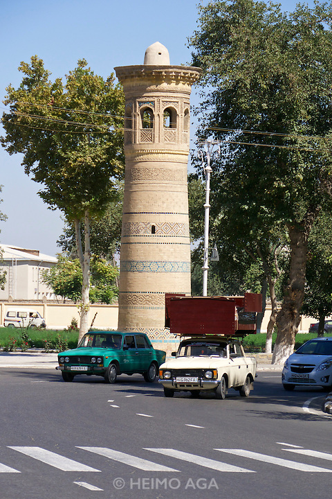 Uzbekistan, Bukhara. Moskvich transporter.