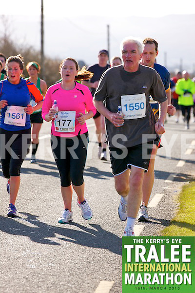 1561 Jayne O'Connor, 0177 Casey Enright and 1550 Sean O'Connor who took part in the Kerry's Eye, Tralee International Marathon on Saturday March 16th 2013.