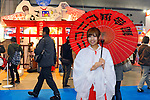 Tokyo, Japan - March 24: A model posed at the booth of Niko Niko Douga, a video sharing website, at Tokyo International Anime Fair at Tokyo Big Sight, Koto, Tokyo, Japan on March 24, 2012. The fair was the largest animation exhibition in the world, and 216 companies had their booths to show their products.
