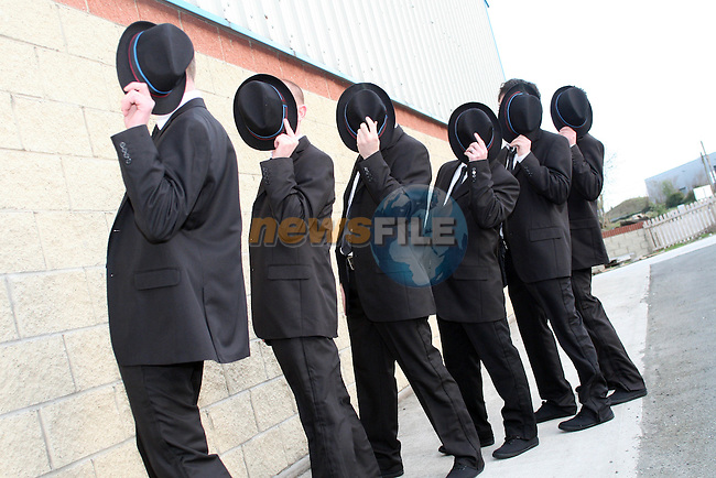Local Lads Preparing for the Charity Full Monty..Photo NEWSFILE/Jenny Matthews.(Photo credit should read Jenny Matthews/NEWSFILE)....This Picture has been sent you under the condtions enclosed by:.Newsfile Ltd..The Studio,.Millmount Abbey,.Drogheda,.Co Meath..Ireland..Tel: +353(0)41-9871240.Fax: +353(0)41-9871260.GSM: +353(0)86-2500958.email: pictures@newsfile.ie.www.newsfile.ie.FTP: 193.120.102.198.