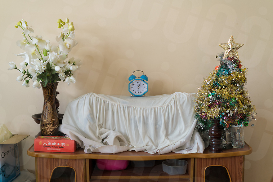 November 23, 2016 - Pailin (Cambodia). A small christmas trees is seen inside the house of Moses Samol Seth, a Cambodian pastor who leads AGAPE, a christian organization. He personally converted to christianity hundreds of former Khmer Rouge cadres during the 90s.  © Thomas Cristofoletti / Ruom