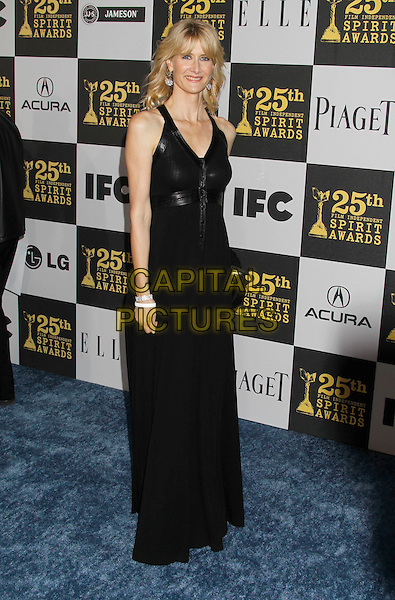 LAURA DERN .25th Annual Film Independent Spirit Awards - Arrivals held at the Nokia Event Deck at L.A. Live, Los Angeles, California, USA, 5th March 2010..indie full length long maxi dress black sleeveless .CAP/ADM/MJ.©Michael Jade/AdMedia/Capital Pictures.