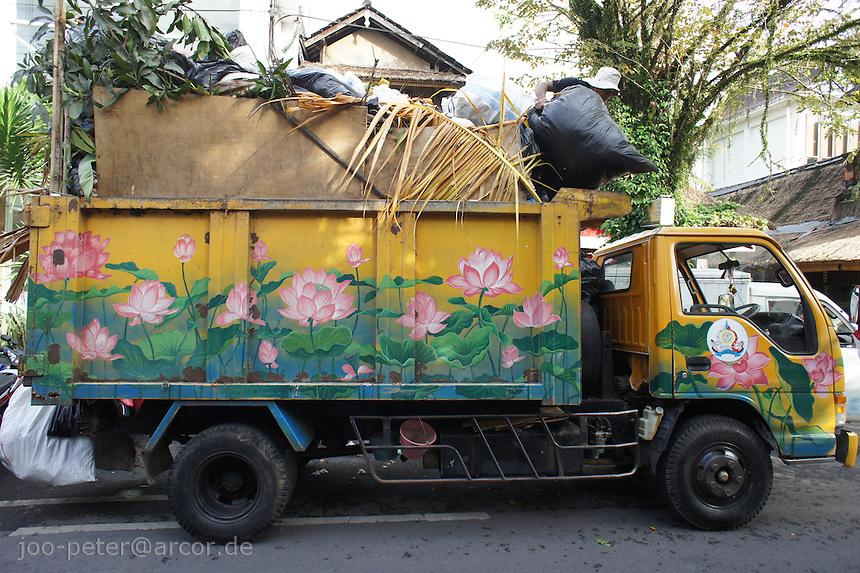 garbage truck in Ubud, Bali, archipelago Indonesia, 2010