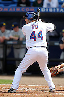 New York Mets Jason Bay #44 during an exhibition game vs the Michigan Wolverines at Digital Domain Ballpark in Port St. Lucie, Florida;  February 27, 2011.  New York defeated Michigan 7-1.  Photo By Mike Janes/Four Seam Images