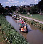 Narrow boat on Kennet and Avon canal, Bathampton, Somerset, England