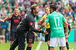 01.09.2019, wohninvest Weserstadion, Bremen, GER, 1.FBL, Werder Bremen vs FC Augsburg, <br /> <br /> DFL REGULATIONS PROHIBIT ANY USE OF PHOTOGRAPHS AS IMAGE SEQUENCES AND/OR QUASI-VIDEO.<br /> <br />  im Bild<br /> <br /> Florian Kohfeldt (Trainer SV Werder Bremen)<br /> Nuri Sahin (Werder Bremen #17)<br /> <br /> Foto © nordphoto / Kokenge