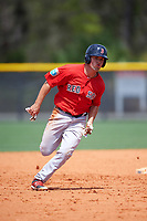 Boston Red Sox Chad De La Guerra (7) during a minor league Spring Training game against the Tampa Bay Rays on March 23, 2016 at Charlotte Sports Park in Port Charlotte, Florida.  (Mike Janes/Four Seam Images)