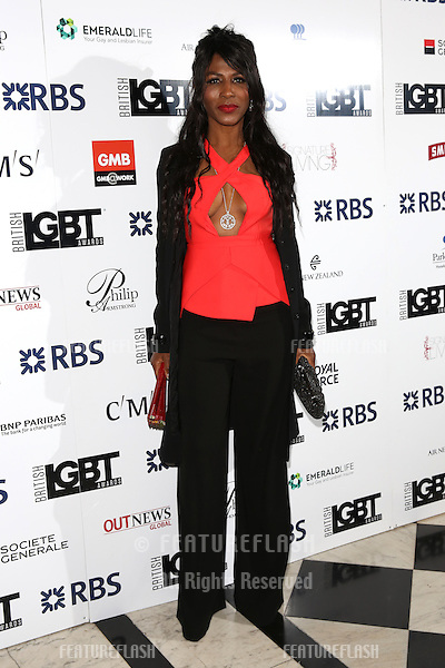 Sinitta at The British LGBT Awards at the Grand Connaught Rooms, London.<br /> May 13, 2016  London, UK<br /> Picture: James Smith / Featureflash