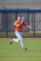 Houston Astros Carmen Benedetti (12) during practice before a Minor League Spring Training Intrasquad game on March 28, 2018 at FITTEAM Ballpark of the Palm Beaches in West Palm Beach, Florida.  (Mike Janes/Four Seam Images)