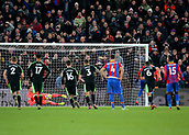 9th December 2017, Selhurst Park, London, England; EPL Premier League football, Crystal Palace versus Bournemouth; Christian Benteke of Crystal Palace has his stoppage time penalty kick saved by Bournemouth Goalkeeper Asmir Begovic