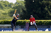 Eoin Morgan of Middlesex hits out during Middlesex vs Essex Eagles, Royal London One-Day Cup Cricket at Radlett Cricket Club on 17th May 2018