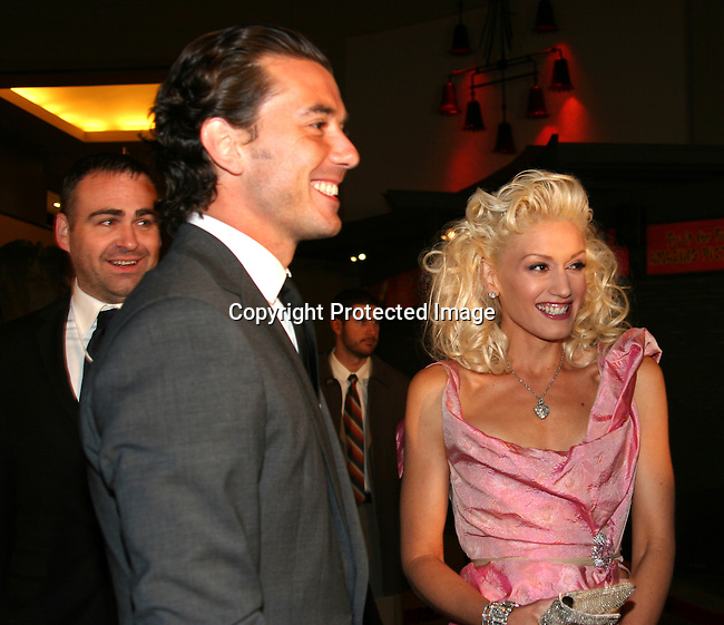 Gavin Rossdale &amp; Gwen Stefani<br />&quot;The Aviator&quot; Premiere - Arrivals<br />Grauman's Chinese Theatre<br />Hollywood, CA, USA<br />Wednesday, December 1, 2004<br />Photo By Selma Fonseca /Celebrityvibe.com/Photovibe.com, <br />New York, USA, Phone 212 410 <br />5354, email:sales@celebrityvibe.com