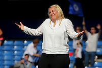 Chelsea Women's Manager, Emma Hayes shows her feelings at the end of the match during Chelsea Women vs Tottenham Hotspur Women, Barclays FA Women's Super League Football at Stamford Bridge on 8th September 2019