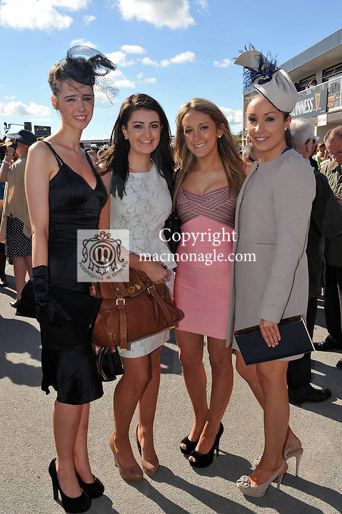 Barbara Mulvihill, Listowel, Maggie Keane, Cork, Lainey Keane, Cork and Laura Keane, Listowel pictured at the Chic Boutique Best Dressed Lady at Listowel Races on Friday..Picture by Don MacMonagle..PR photo from Listowel Races