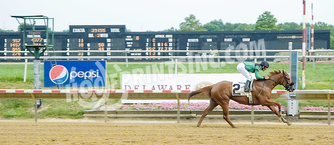 Hurricane Girl winning at Delaware Park on 7/12/12