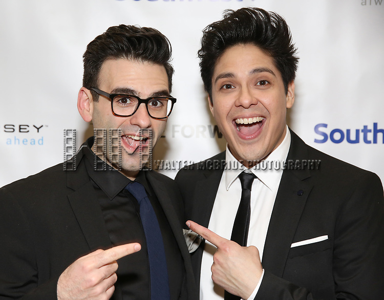 Joe Iconis and George Salazar during a reception for Theatre Forward's Chairman's Awards Gala at the Pierre Hotel on April 8, 2019 in New York City.