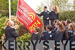 Education Minister Ruairi Quinn raised the Junior Entrepreneur Flag (JEP) at Kilcummin National School last Friday. <br /> Pictured are Jacob Pogorzelski, Emma Lowin, Liadain O'Connor, Ciara Foran, Amber Pomeranz, Sean Cronin, Aoife O'Sullivan, Shannon Gleeson and Katie O'Leary. Shauna O'Donoghue and Caoimhe Madigan.