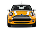 Car photography straight front view of a 2017 MINI Cooper 3-door 3 Door Hatchback Front View