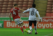 12th September 2017, Oakwell, Barnsley, England; Carabao Cup, second round, Barnsley versus Derby County; Joe Williams of Barnsley FC wins the ball off Ikechi Anya of Derby County