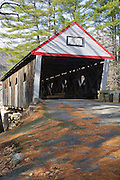 Lovejoy Covered Bridge in Andover, Maine USA