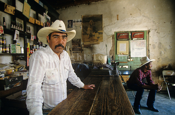 Bartender in Mexican village of Boquillas on banks of the Rio Grande, Coahula, Mexico, AGPix_0113.