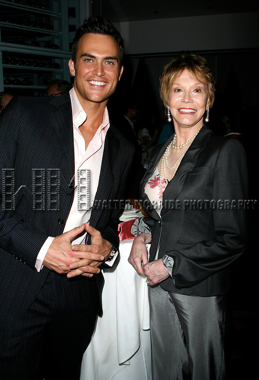 Cheyenne Jackson & Mary Tyler Moore<br />attending the book Party for the debut release of Bernadette Peter's BROADWAY BARKS at Le Cirque Restaurant in New York City.<br />May 12, 2008