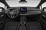 Stock photo of straight dashboard view of 2019 Toyota Corolla SE 5 Door Hatchback Dashboard