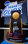 SURPRISE, AZ - MAY 12: The Division II Men's Tennis Championship Trophy is shown at the Surprise Tennis & Racquet Club on May 12, 2018 in Surprise, Arizona. (Photo by Jack Dempsey/NCAA Photos via Getty Images)