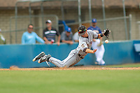 Cal Poly San Luis Obispo Mustangs Nick DiCarlo (7) in action against the UC-Riverside Highlanders at Riverside Sports Complex on May 26, 2018 in Riverside, California. The Cal Poly SLO Mustangs defeated the UC Riverside Highlanders 6-5. (Donn Parris/Four Seam Images)