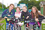 GIRL TIME: Taking part in the Na Gaeil GAA fundraising family cycle on Saturday l-r: Nora O'Connell, Meagan Sheehy, Jadyn Lucey and Sarah Quigley.