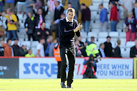 Exeter City manager Matt Taylor during Stevenage vs Exeter City, Sky Bet EFL League 2 Football at the Lamex Stadium on 10th August 2019