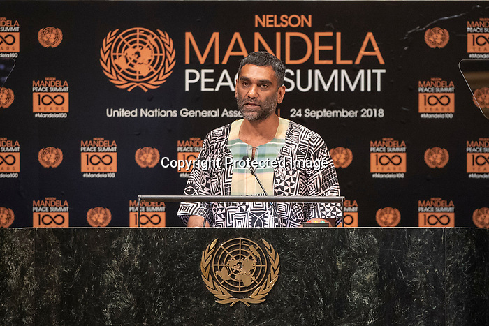 Opening Plenary Meeting of the Nelson Mandela Peace Summit<br /> MR, Kumi Naidoo AI