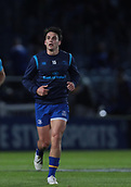 29th September 2017, RDS Arena, Dublin, Ireland; Guinness Pro14 Rugby, Leinster Rugby versus Edinburgh;  Joey Carbery (Leinster) warms up
